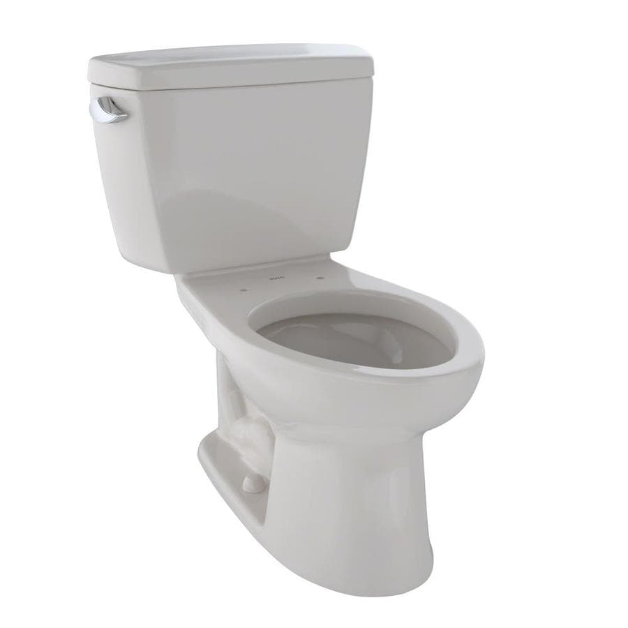 TOTO Drake Sedona Beige  Elongated Standard Height 2-piece Toilet 12-in Rough-In Size