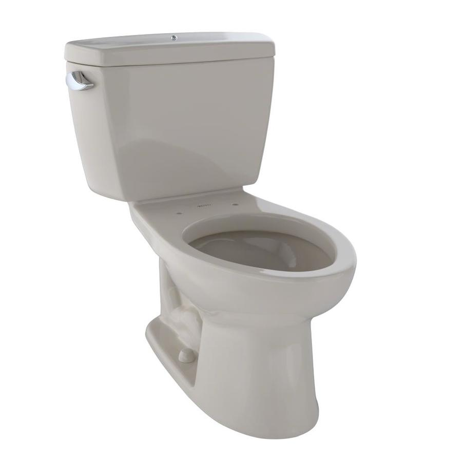 TOTO Drake 1.6-GPF (6.06-LPF) Bone Elongated 2-piece Toilet