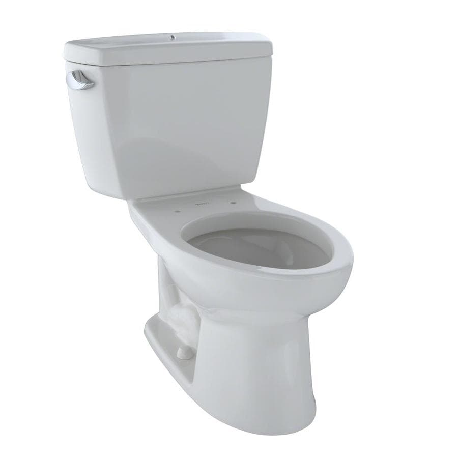 TOTO Drake 1.6-GPF Colonial White Elongated Standard Height 2-Piece Toilet