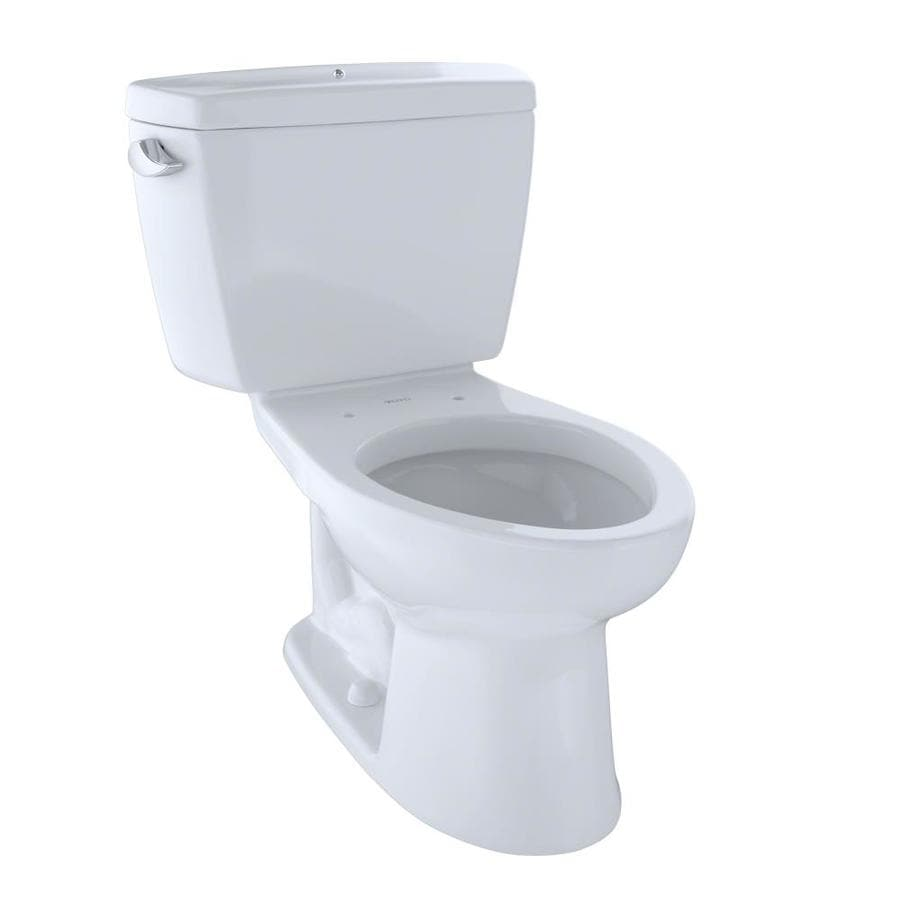 TOTO Drake 1.6-GPF Cotton White Elongated Standard Height 2-Piece Toilet