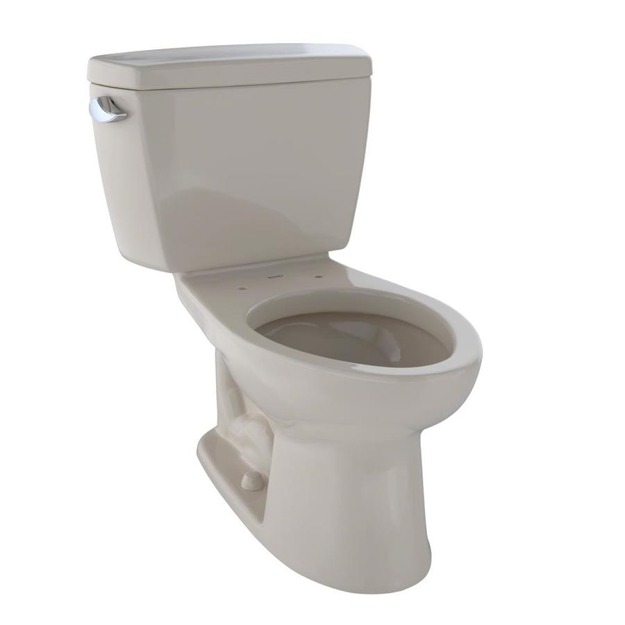 TOTO Drake Bone  Elongated Chair Height 2-piece Toilet 12-in Rough-In Size