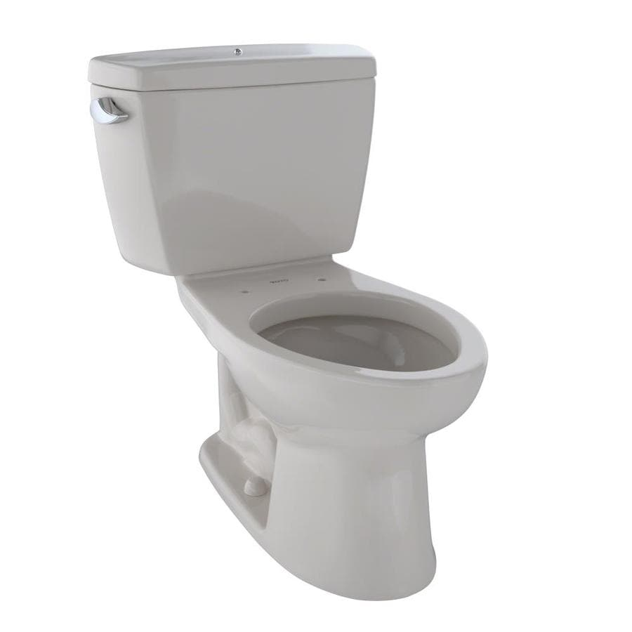 TOTO Drake Sedona Beige  Elongated Chair Height 2-piece Toilet 12-in Rough-In Size