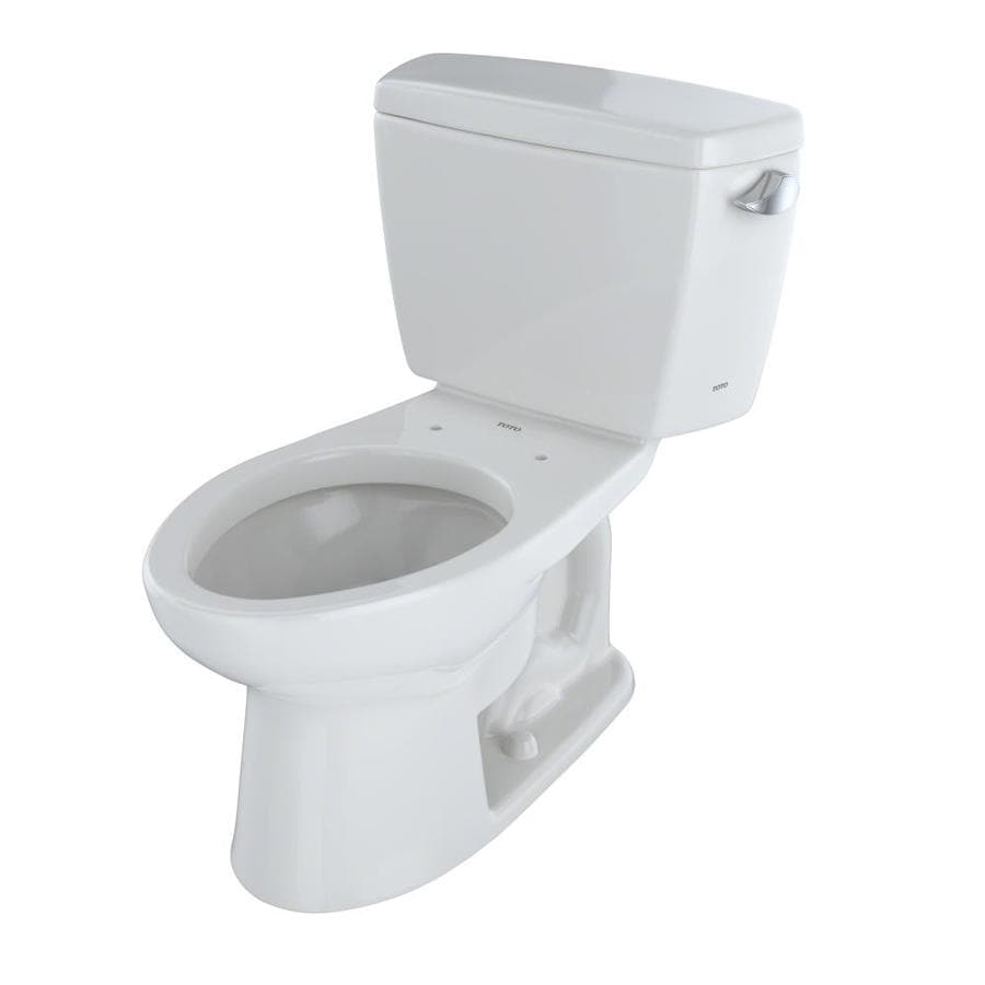 TOTO Drake Colonial White 1.6-GPF (6.06-LPF) 12 Rough-In Elongated 2-Piece Chair Height Toilet