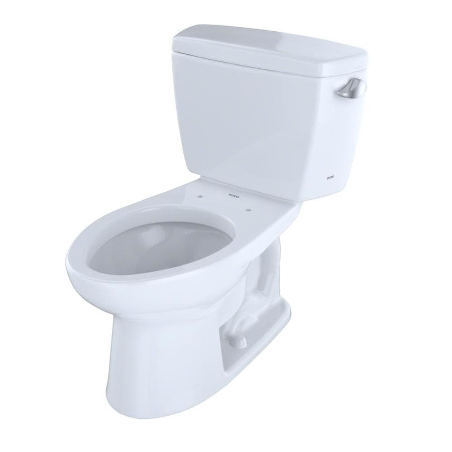 TOTO Drake 1.6 Cotton White Elongated Standard Height 2-Piece Toilet