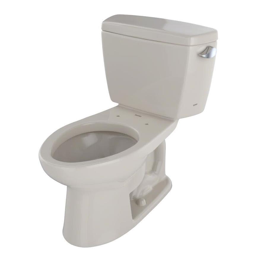 TOTO Drake 1.6-GPF (6.06-LPF) Bone Elongated Standard Height 2-Piece Toilet