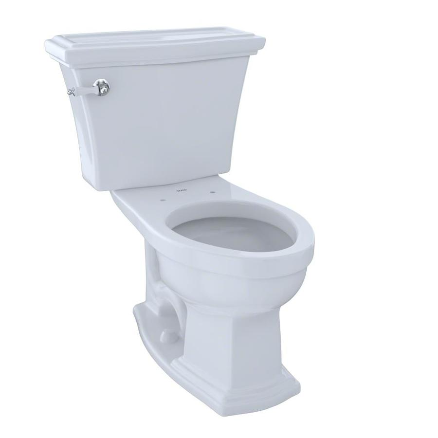 TOTO Clayton 1.6 Cotton White Elongated Chair Height 2-Piece Toilet