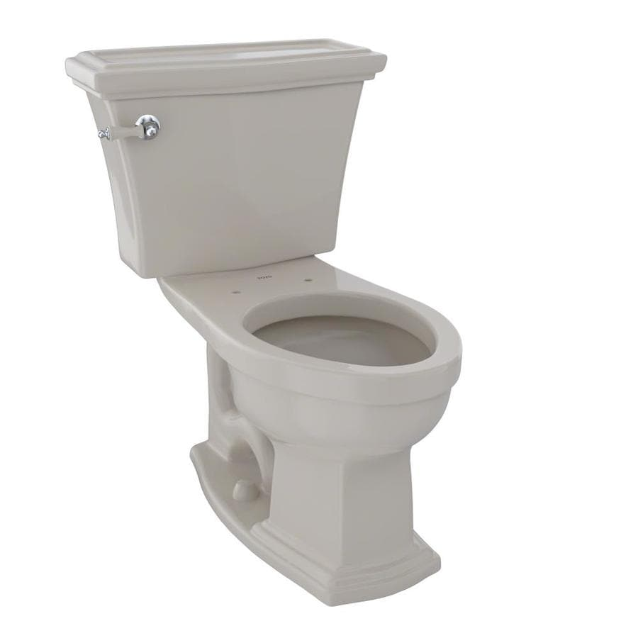 TOTO Clayton Bone 1.6-GPF (6.06-LPF) 12 Rough-In Elongated 2-Piece Chair Height Toilet