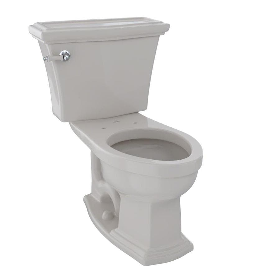 TOTO Clayton Sedona Beige 1.6-GPF (6.06-LPF) 12 Rough-In Elongated 2-Piece Chair Height Toilet