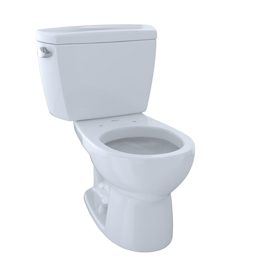 TOTO Drake 1.6 Cotton White Round Standard Height 2-Piece Toilet