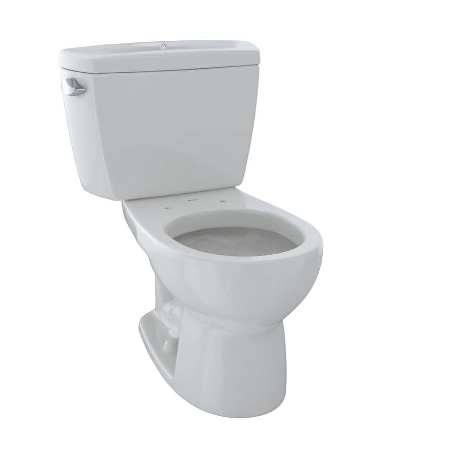 TOTO Drake Colonial White  Round Standard Height 2-piece Toilet 12-in Rough-In Size