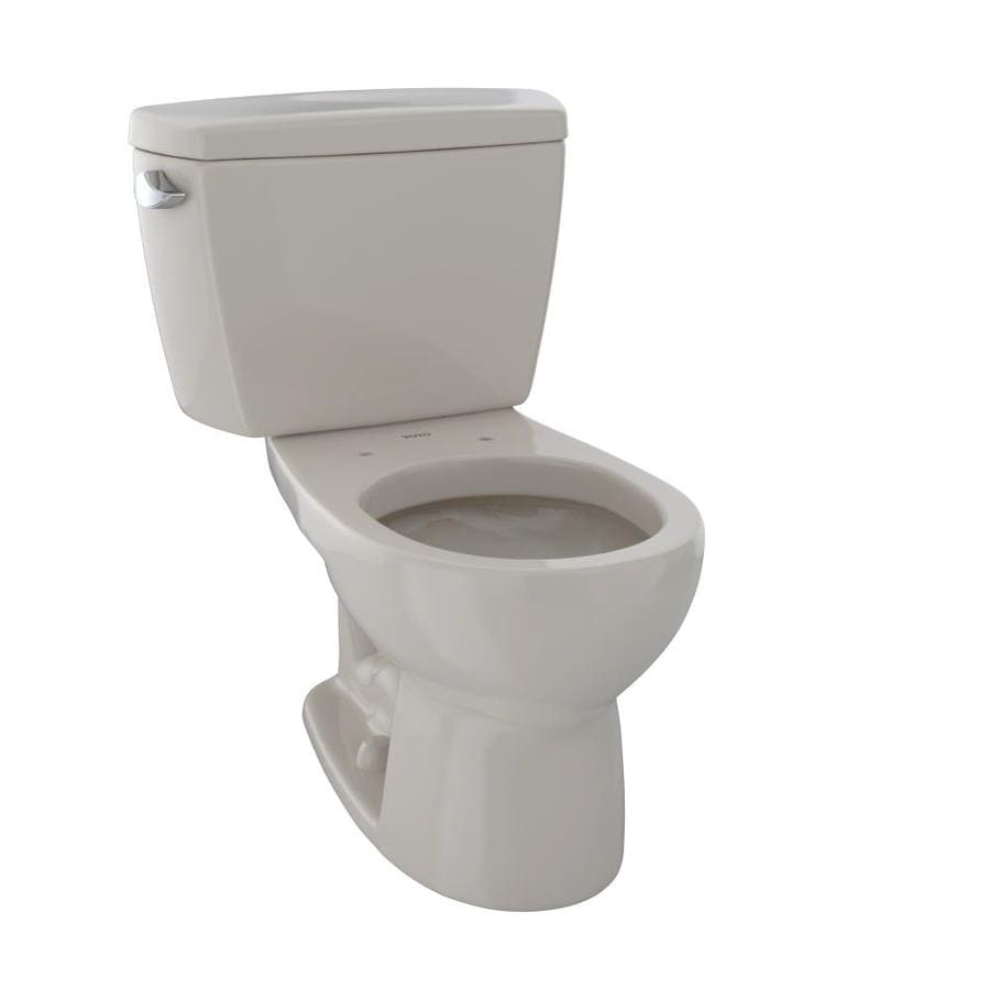 TOTO Drake Bone  Round Standard Height 2-piece Toilet 12-in Rough-In Size