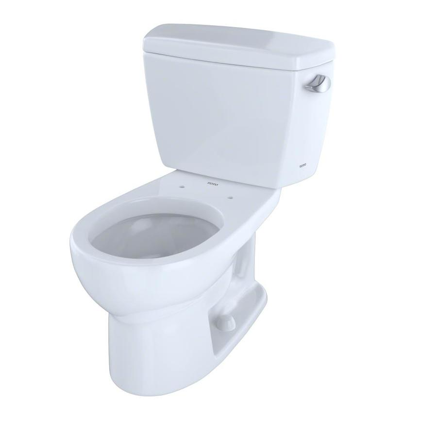 TOTO Drake Cotton White 1.6-GPF (6.06-LPF) 12 Rough-In Round 2-Piece Standard Height Toilet