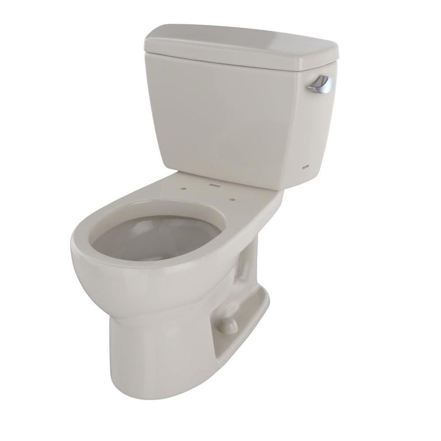 TOTO Drake Bone 1.6-GPF (6.06-LPF) 12 Rough-In Round 2-Piece Standard Height Toilet