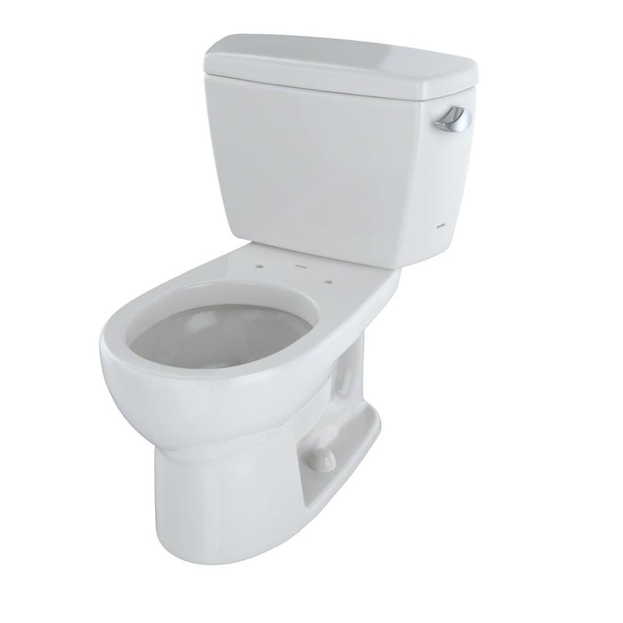 TOTO Drake 1.6-GPF (6.06-LPF) Colonial White Round Standard Height 2-Piece Toilet