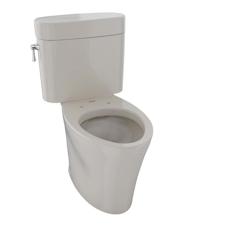 TOTO Nexus Bone  Elongated Chair Height 2-piece Toilet 12-in Rough-In Size