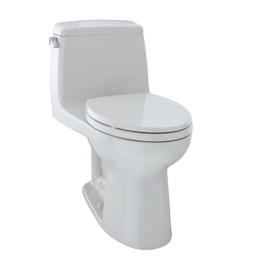 TOTO Ultramax Colonial White 1.6-GPF (6.06-LPF) 12 Rough-In Elongated 1-Piece Chair Height Toilet
