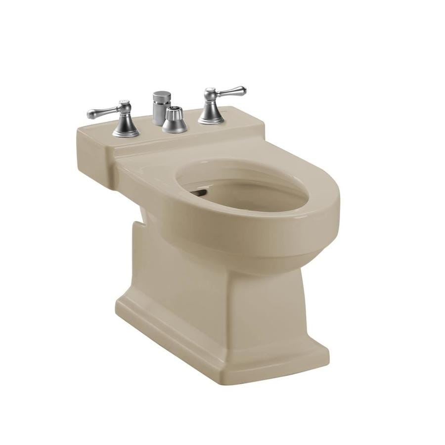 Shop TOTO Lloyd 15-in H Bone Elongated Bidet at Lowes.com