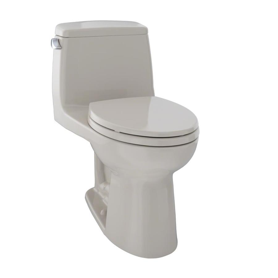 TOTO Ultramax Bone  Elongated Standard Height 1-piece Toilet 12-in Rough-In Size