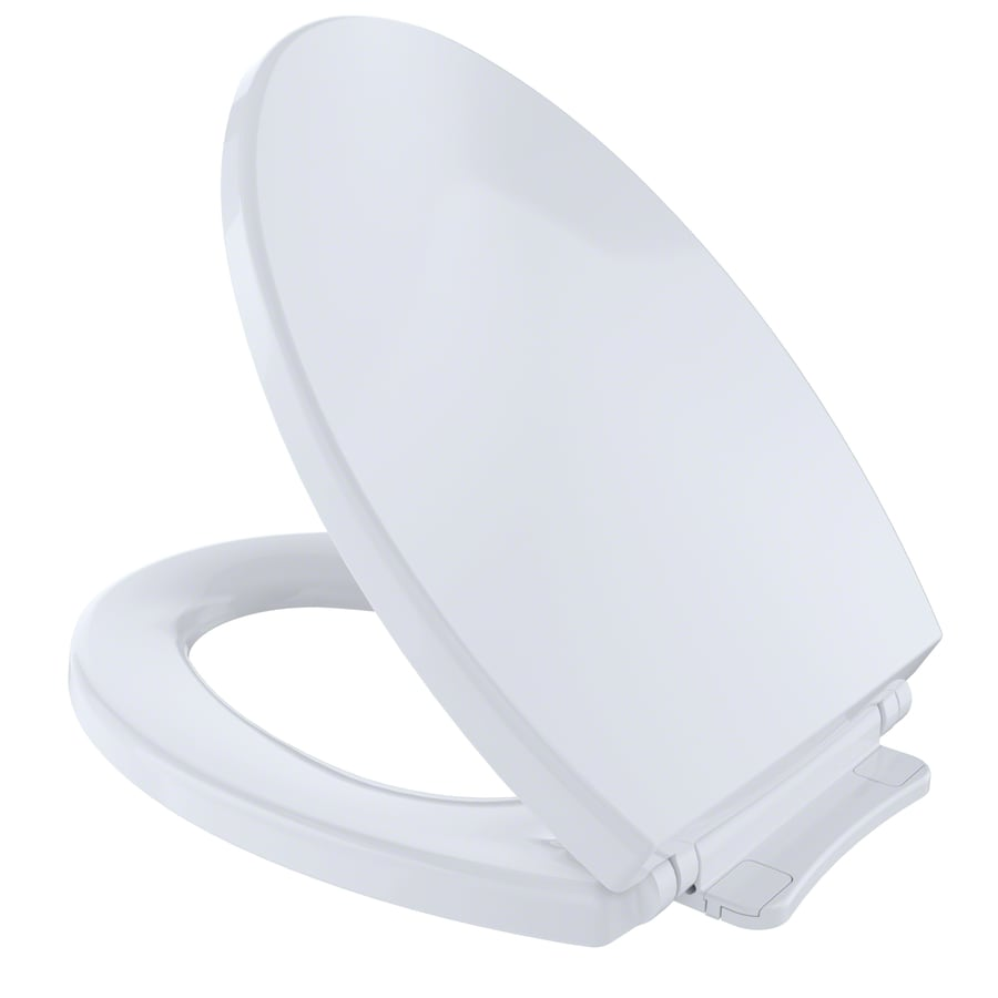 Shop TOTO Plastic Elongated Slow-Close Toilet Seat at Lowes.com