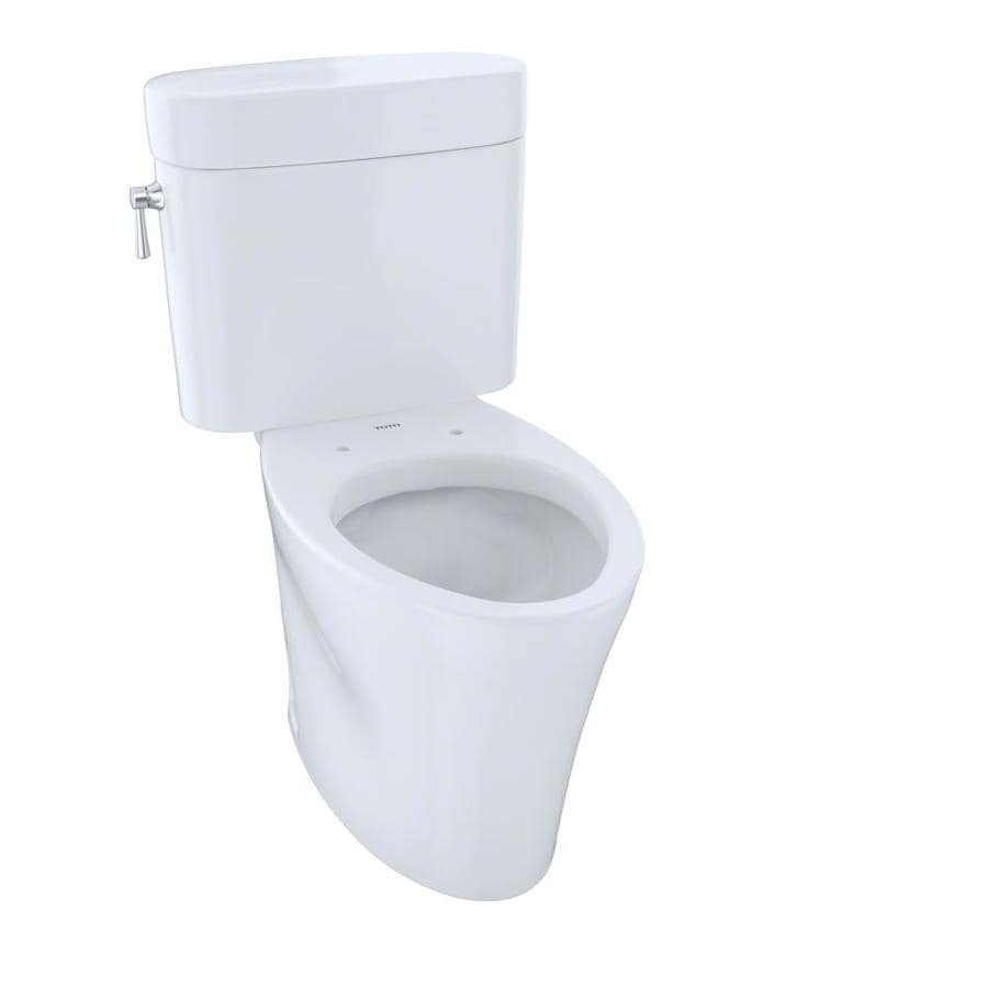 TOTO Eco Nexus Cotton White WaterSense Labeled  Elongated Chair Height 2-piece Toilet 12-in Rough-In Size