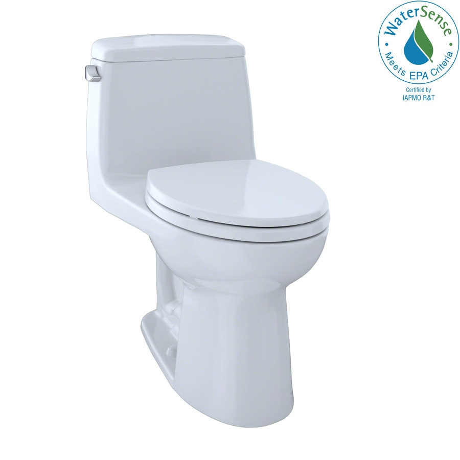 TOTO Eco Ultramax 1.28-GPF (4.85-LPF) Cotton White Elongated 1-piece Toilet