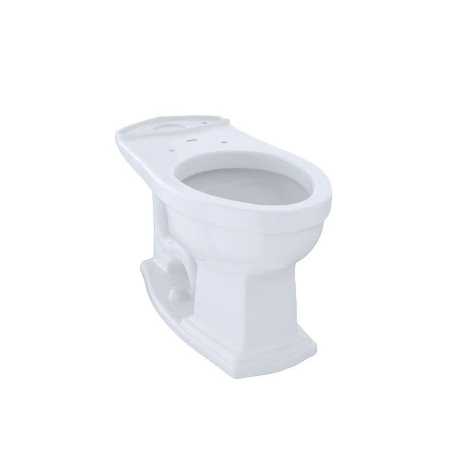 Shop TOTO Eco Clayton Cotton White Elongated Chair Height Toilet ...
