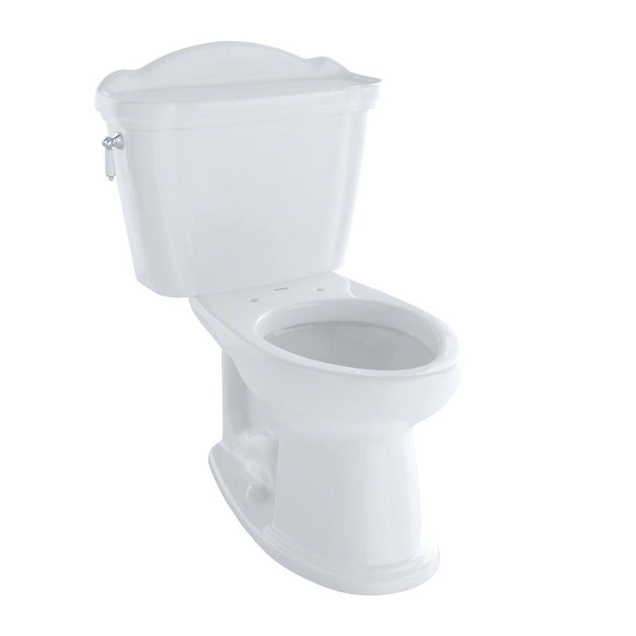 TOTO Eco Whitney Cotton White WaterSense Labeled  Elongated Chair Height 2-piece Toilet 12-in Rough-In Size