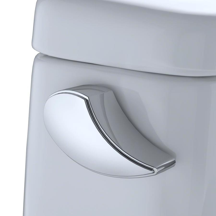 Toto Eco Ultramax Cotton White Watersense Elongated Chair Height Toilet 12 In Rough In Size Ada Compliant In The Toilets Department At Lowes Com