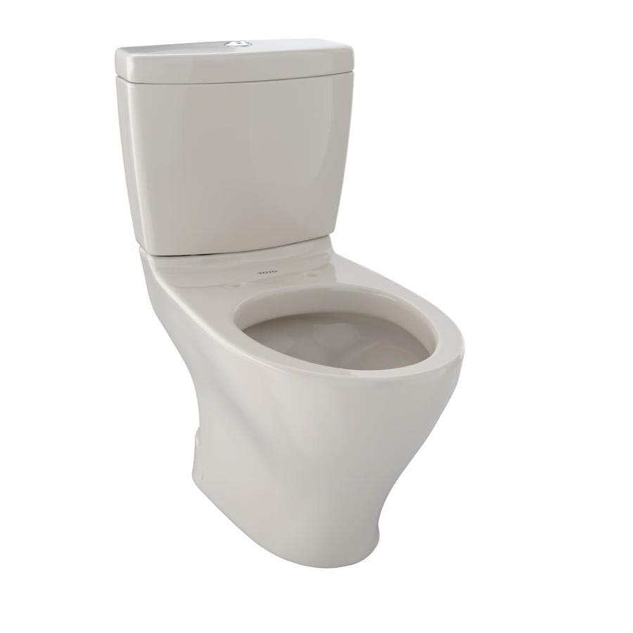 TOTO Aquia II 0.9-GPF Bone WaterSense Dual-Flush Elongated Standard Height 2-Piece Toilet