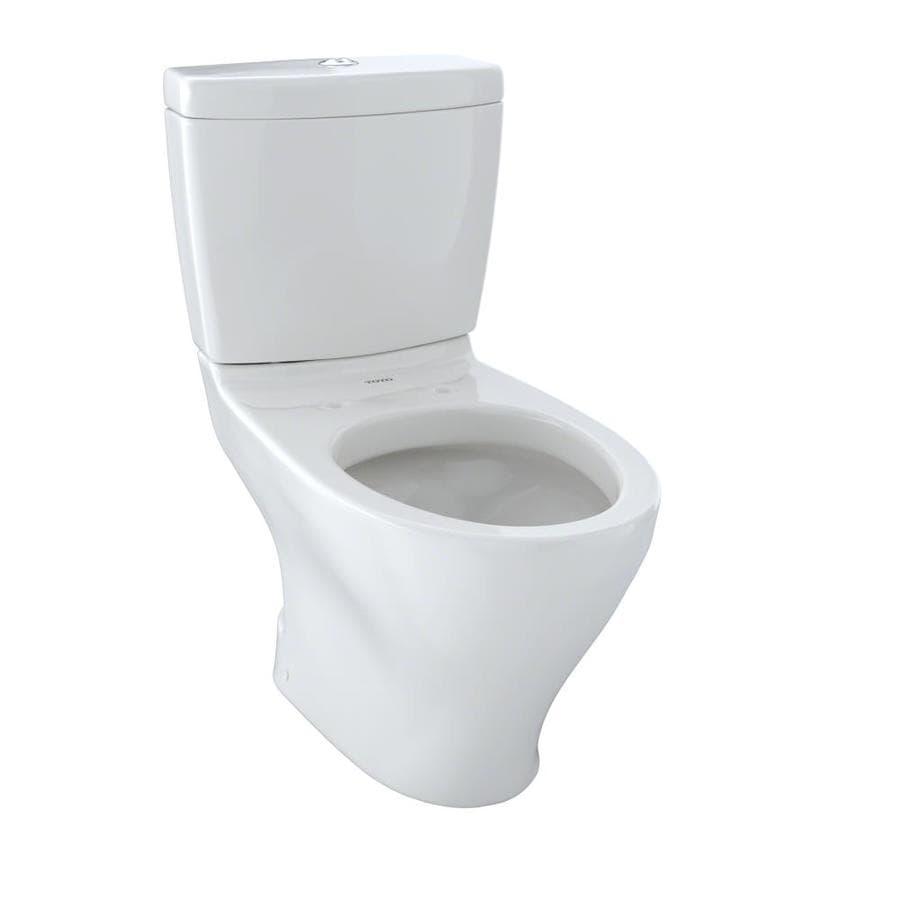 TOTO Aquia II 0.9-GPF Colonial White WaterSense Dual-Flush Elongated Standard Height 2-Piece Toilet