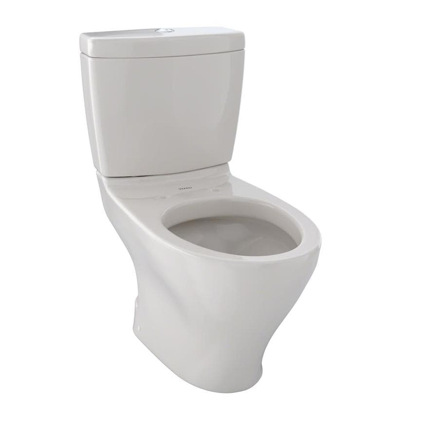 TOTO Aquia II Sedona Beige WaterSense Labeled Dual Elongated Standard Height 2-piece Toilet 12-in Rough-In Size