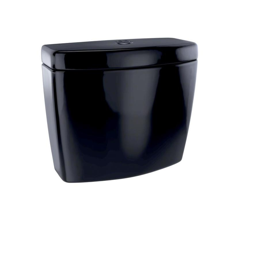 TOTO Aquia II Ebony 1.6; 0.9-GPF (6.06; 3.41-LPF) 12 Rough-In Dual-Flush High-Efficiency Toilet Tank