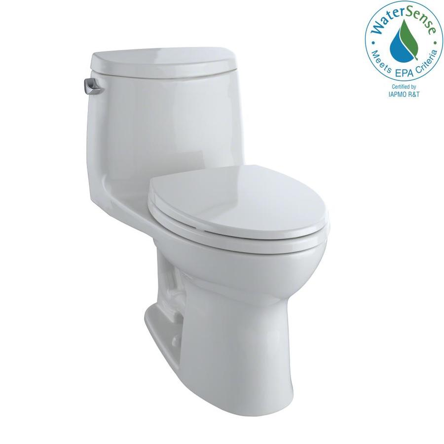 TOTO Ultramax II 1.28-GPF (4.85-LPF) Colonial White WaterSense Elongated Chair Height 1-Piece Toilet