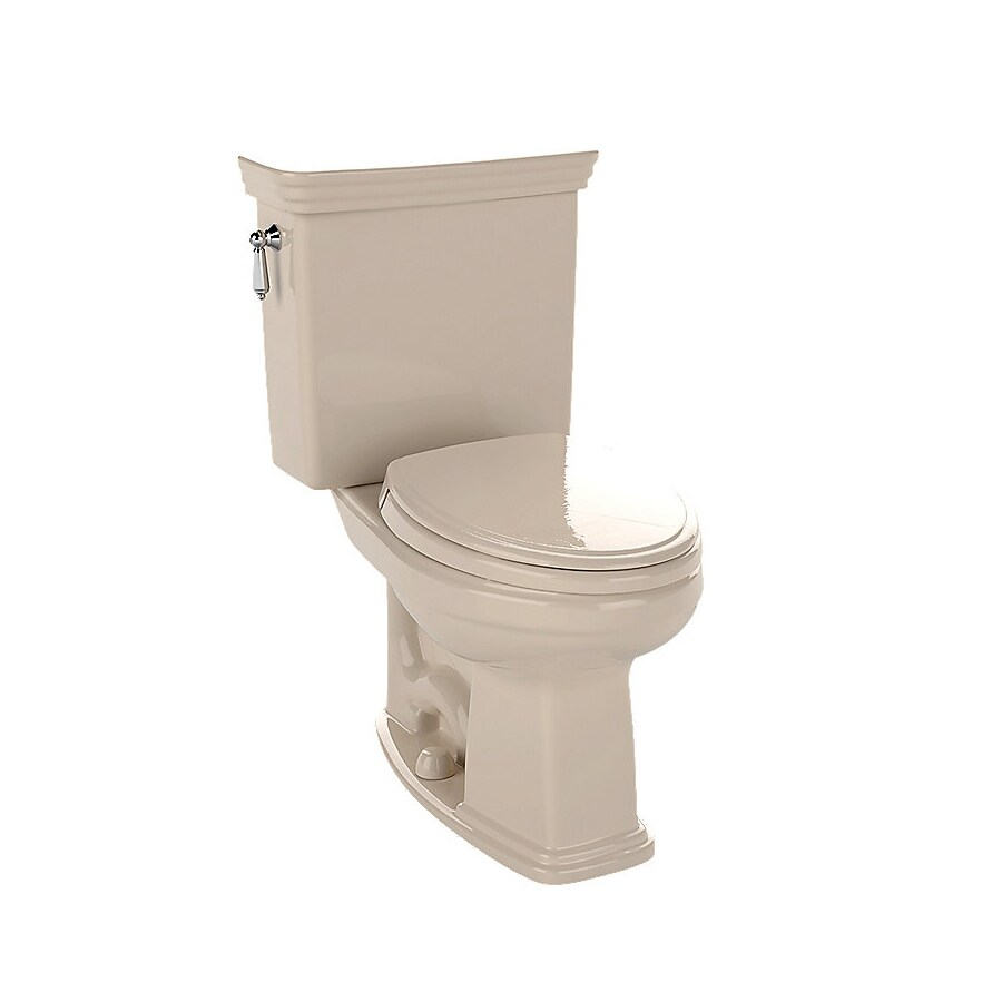 TOTO Promenade Bone 1.6-GPF (6.06-LPF) 12 Rough-In Elongated 2-Piece Chair Height Toilet