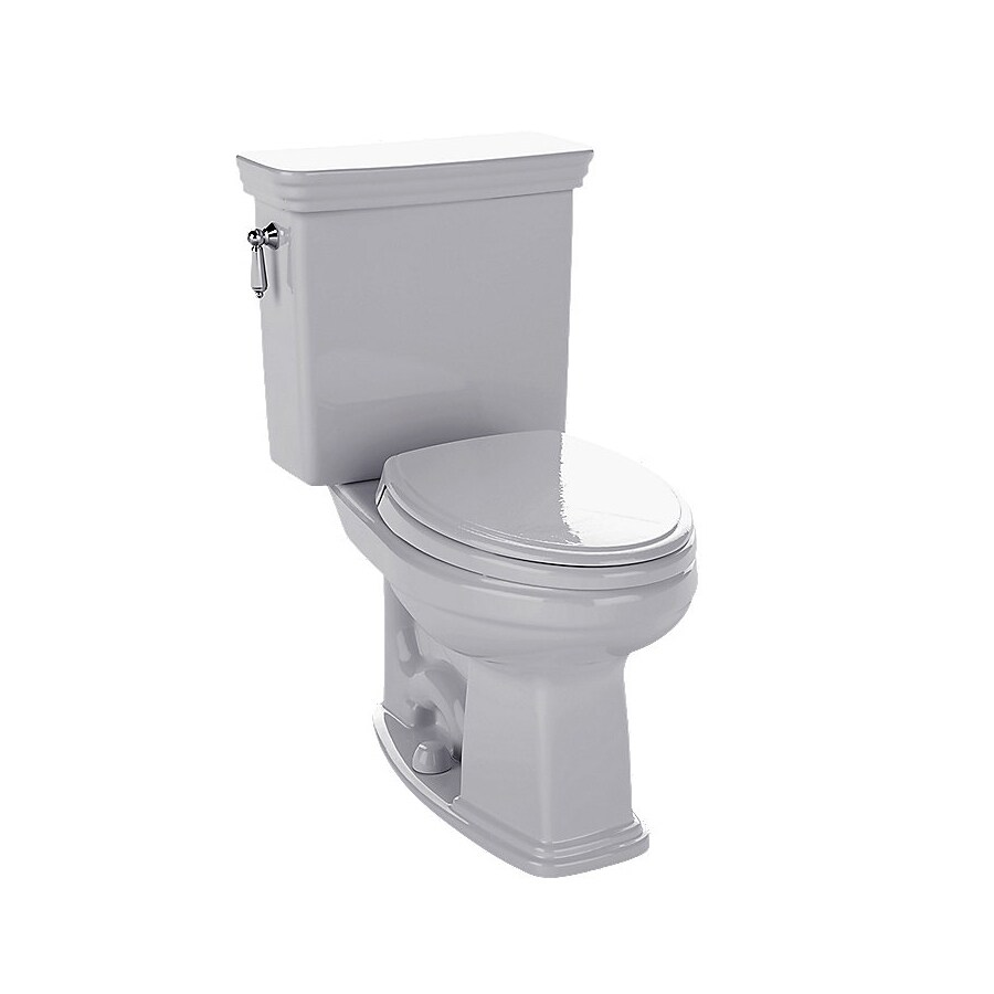 TOTO Promenade Colonial White WaterSense Labeled  Elongated Chair Height 2-piece Toilet 12-in Rough-In Size