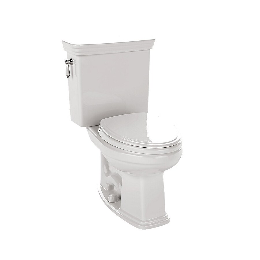 TOTO Promenade 1.6-GPF Cotton White Elongated Chair Height 2-Piece Toilet