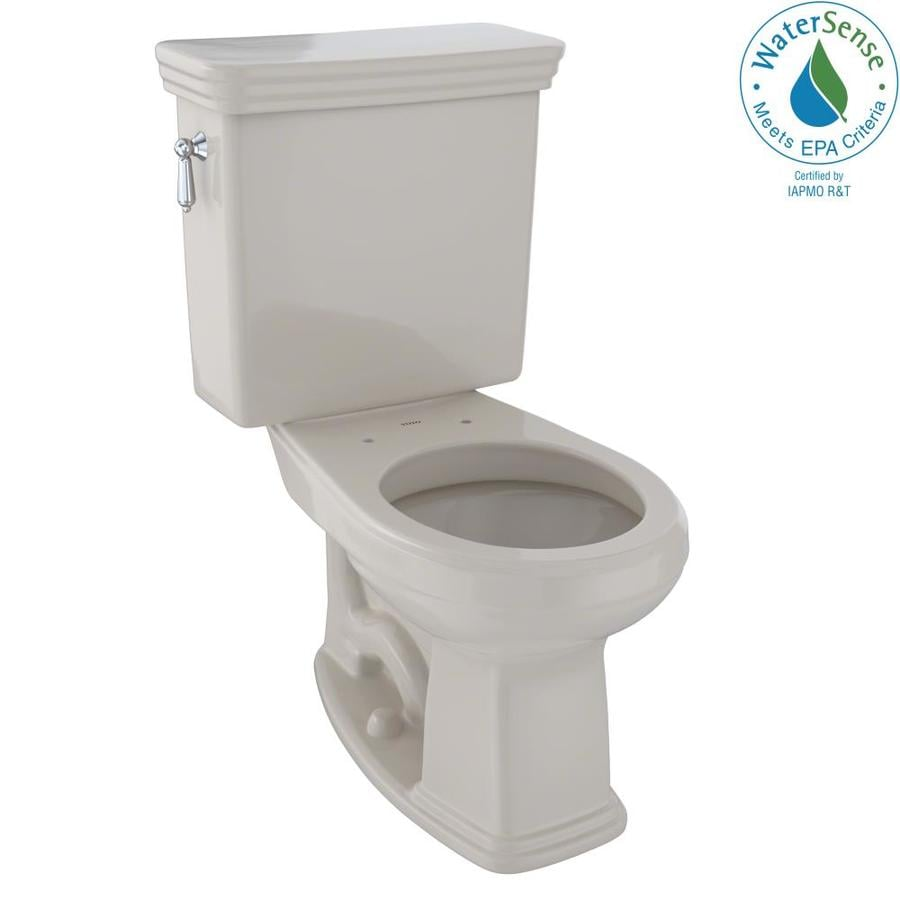 TOTO Promenade Bone 1.28-GPF (4.85-LPF) 12 Rough-In WaterSense Round 2-Piece Chair Height Toilet