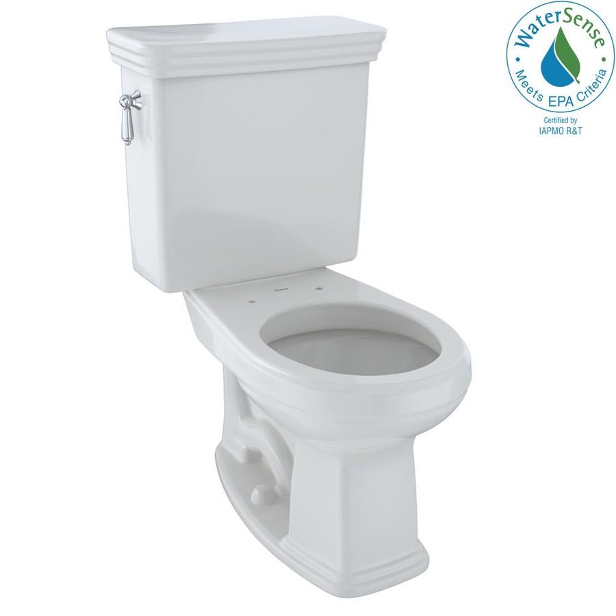 TOTO Promenade 1.28-GPF Colonial White WaterSense Round Chair Height 2-Piece Toilet