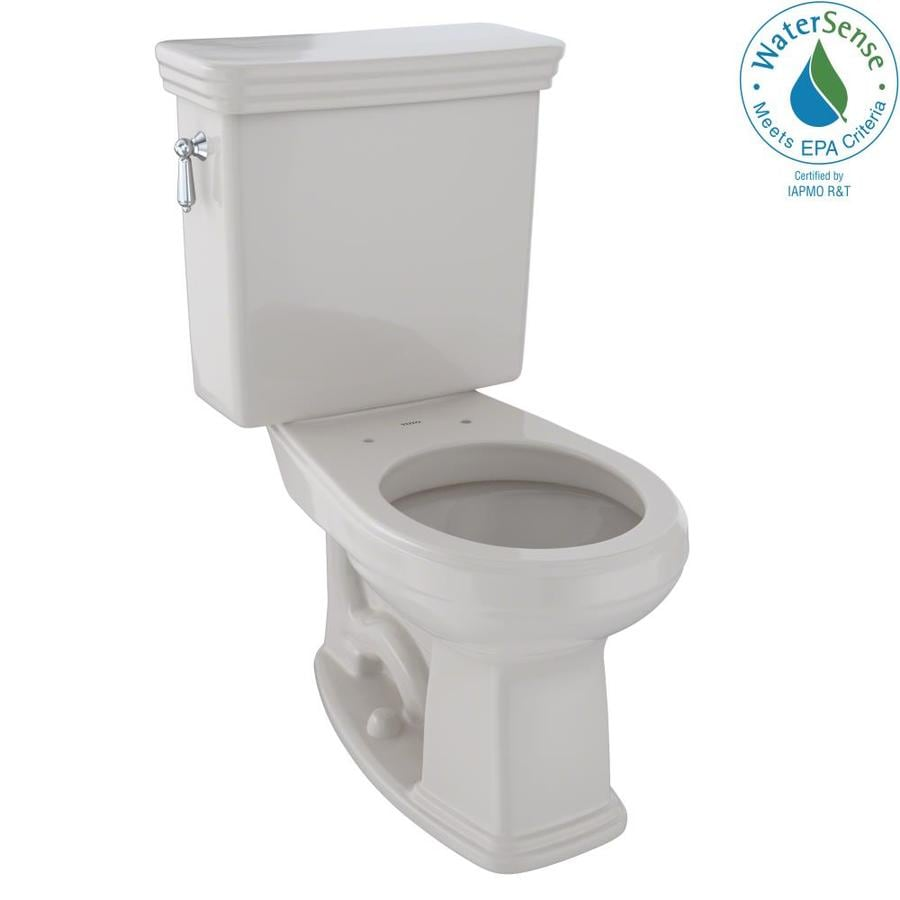 TOTO Promenade Sedona Beige WaterSense Labeled  Round Chair Height 2-piece Toilet 12-in Rough-In Size