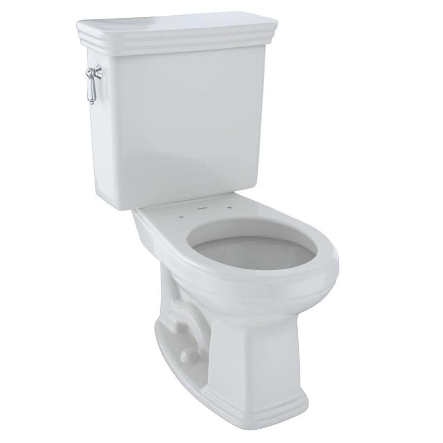 TOTO Promenade Colonial White  Round Chair Height 2-piece Toilet 12-in Rough-In Size