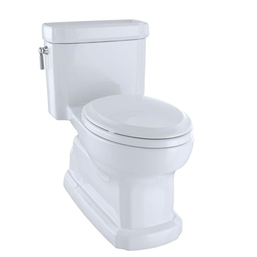 TOTO Eco Guinevere 1.28 Cotton White WaterSense Elongated Chair Height 1-Piece Toilet