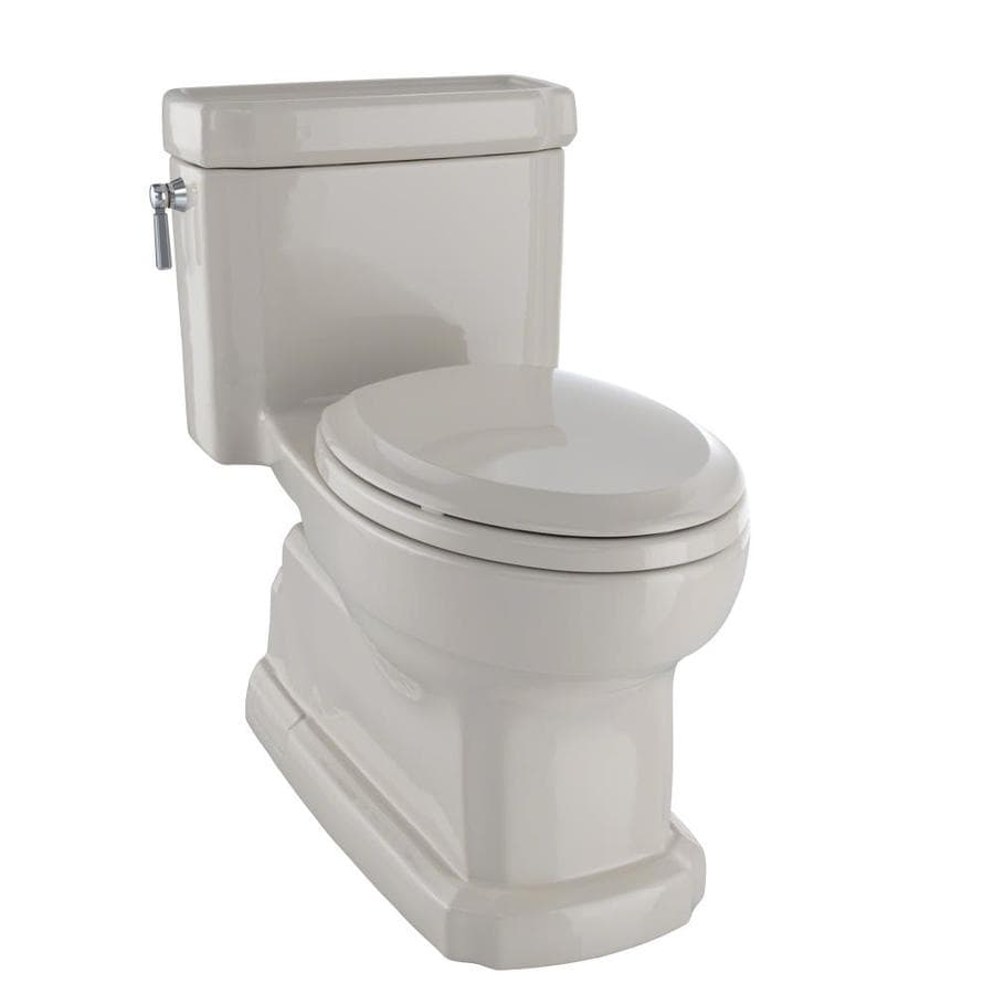 TOTO Eco Guinevere Bone WaterSense Labeled  Elongated Chair Height 1-piece Toilet 12-in Rough-In Size