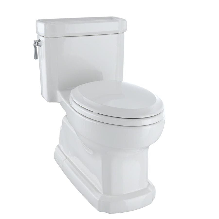 TOTO Eco Guinevere Colonial White WaterSense Labeled  Elongated Chair Height 1-piece Toilet 12-in Rough-In Size