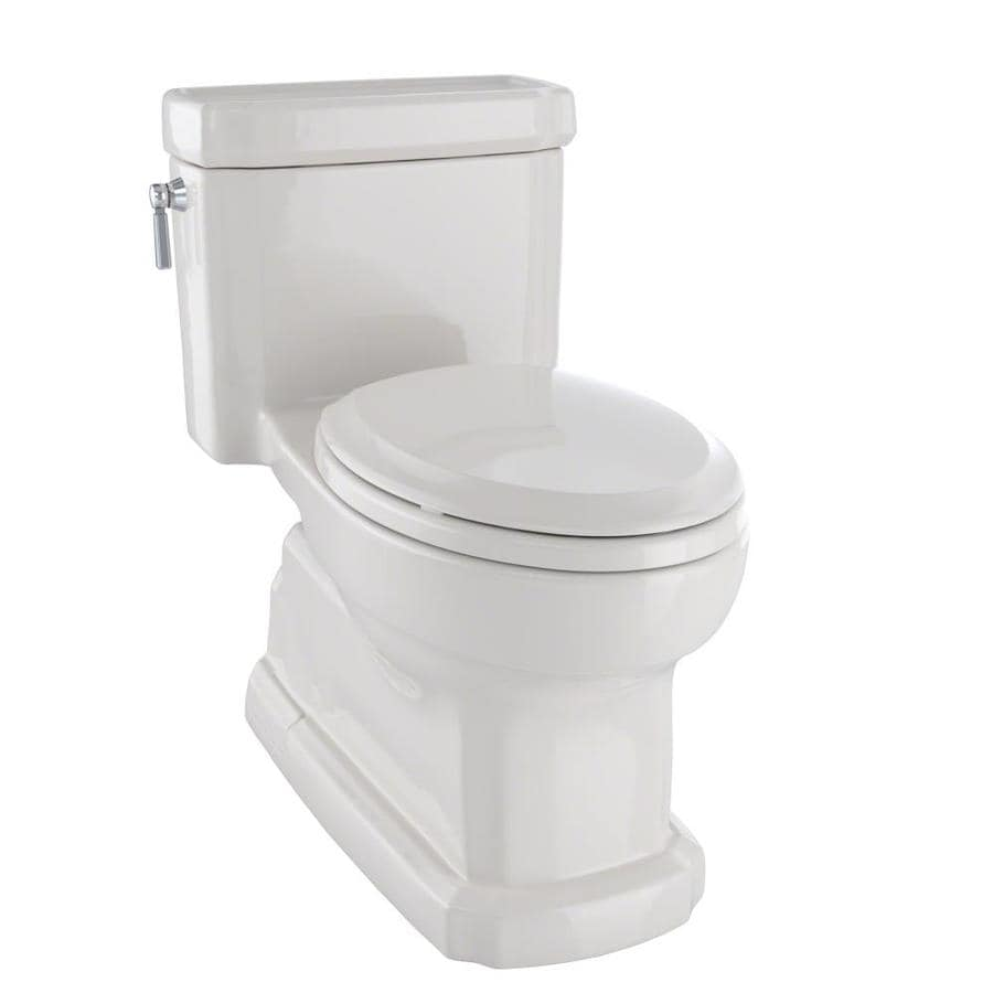 TOTO Eco Guinevere Sedona Beige WaterSense Labeled  Elongated Chair Height 1-piece Toilet 12-in Rough-In Size