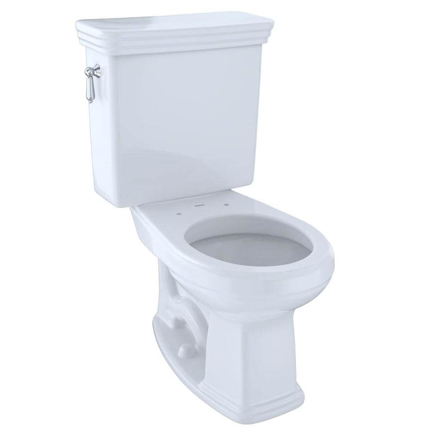 TOTO Promenade Cotton White  Round Chair Height 2-piece Toilet 12-in Rough-In Size