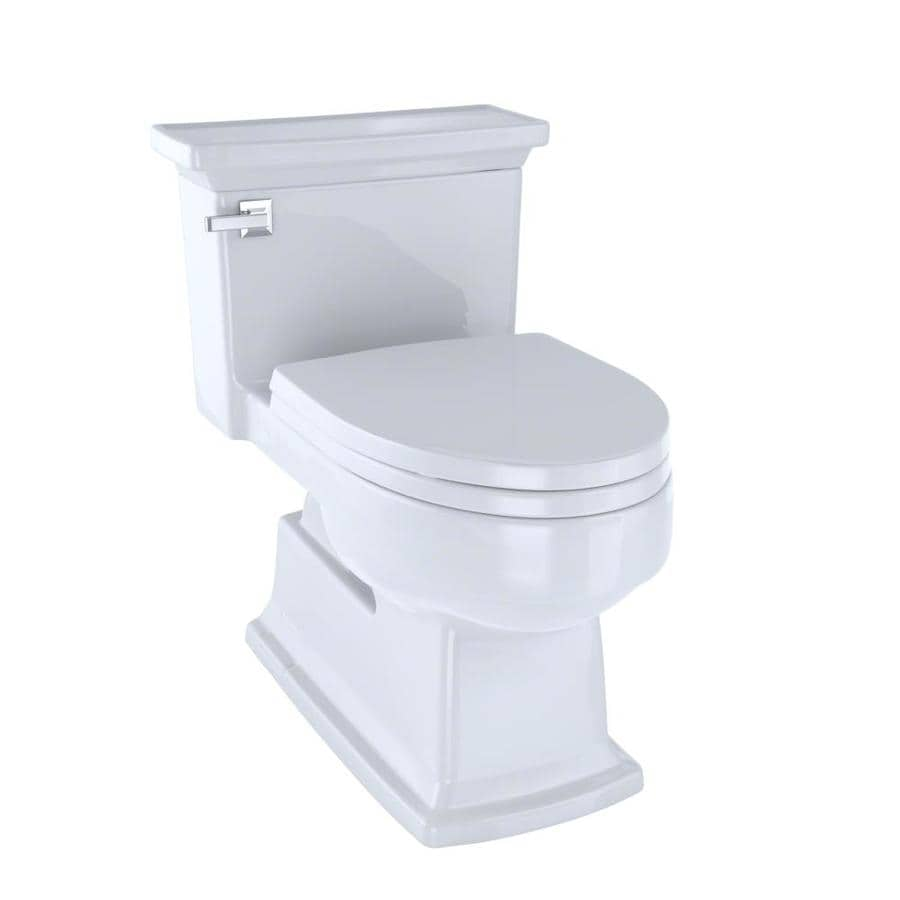 TOTO Eco Lloyd Cotton White 1.28-GPF (4.85-LPF) 12 Rough-In WaterSense Elongated 1-Piece Chair Height Toilet