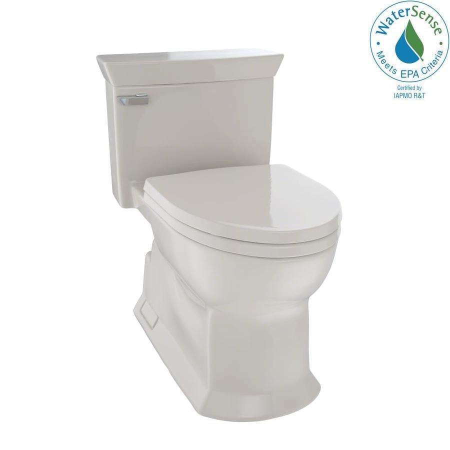 TOTO Eco Soiree 1.28-GPF (4.85-LPF) Bone WaterSense Elongated Chair Height 1-Piece Toilet