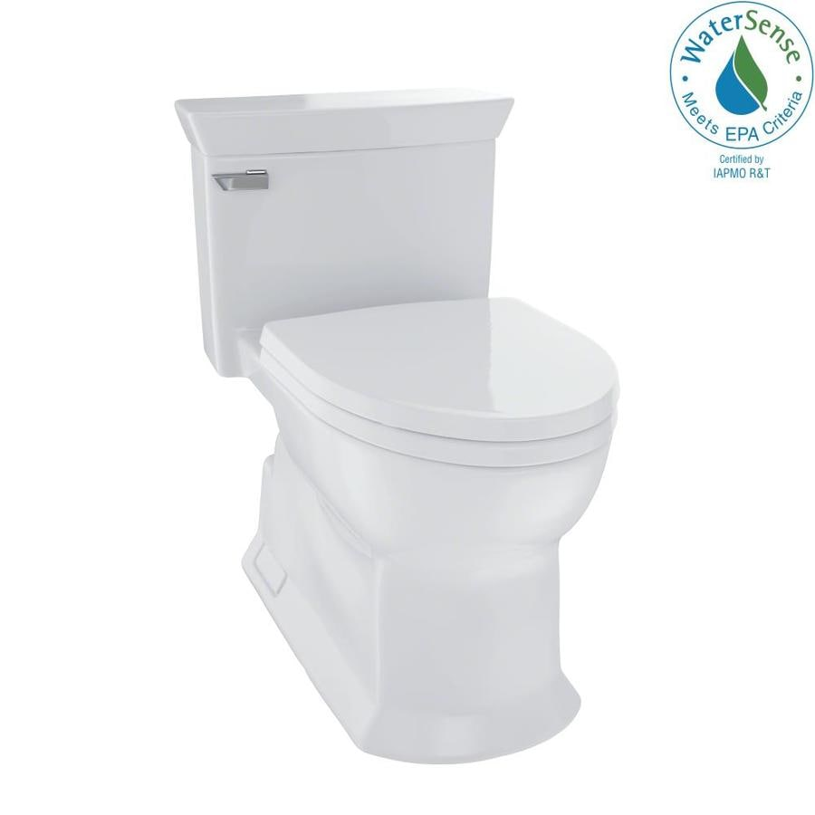 TOTO Eco Soiree 1.28 Colonial White WaterSense Elongated Chair Height 1-Piece Toilet