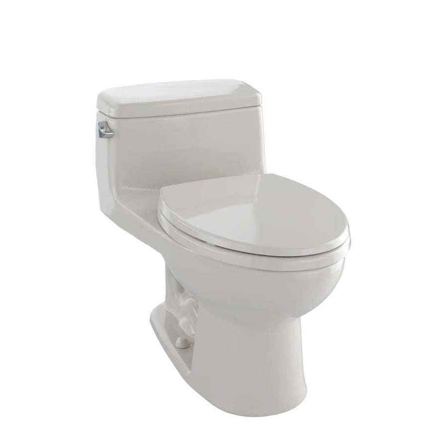 TOTO Eco Supreme Bone WaterSense Labeled  Elongated Standard Height 1-piece Toilet 12-in Rough-In Size