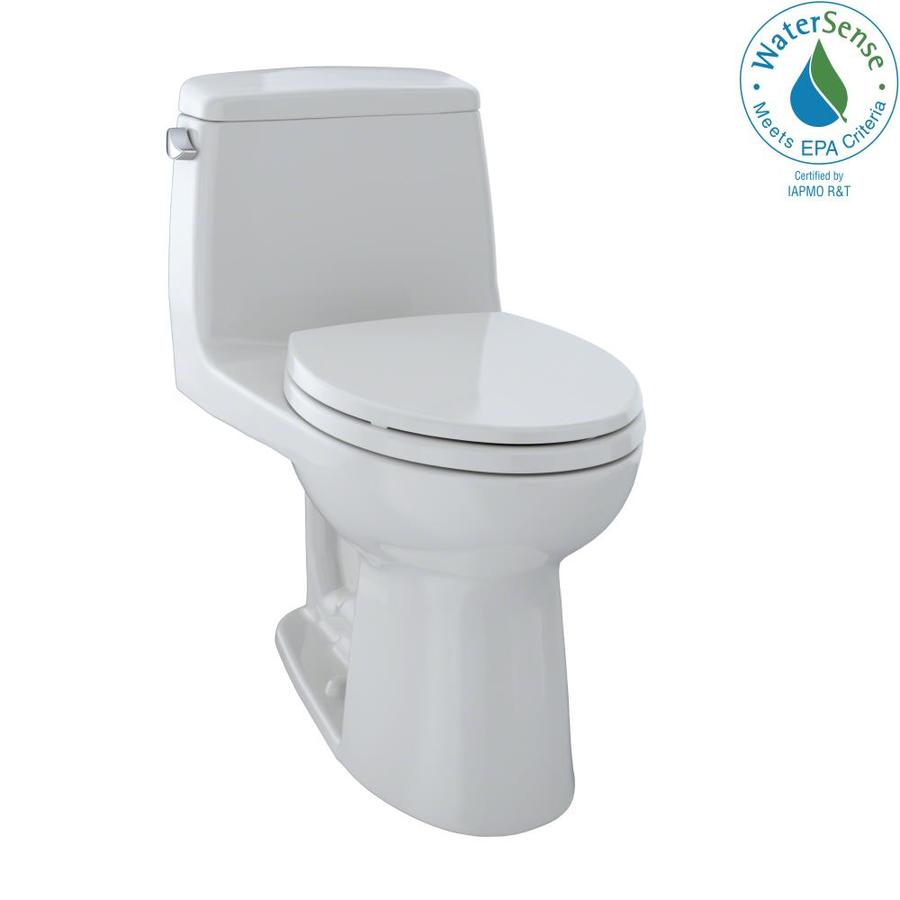TOTO Eco Ultramax Colonial White WaterSense Labeled  Elongated Standard Height 1-piece Toilet 12-in Rough-In Size